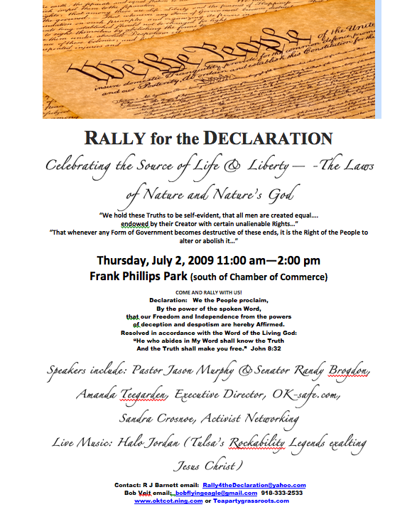 Bartlesville Rally for the Declaration