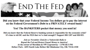 END the FED Rally in OKC Nov 22