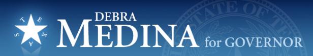Medina for Texas Governor