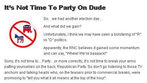 Its Not Time To Party On Dude