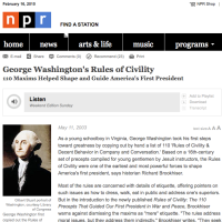 NPR: George Washington's Rules of Civility
