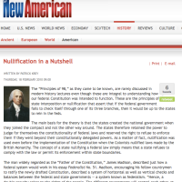 New American: Nullification in a Nutshell - Patrick Krey