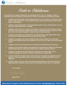 Oklahoma:  Nathan Dahm's Oath to Oklahoma in 2010
