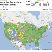 Who Won the Fox Debate? Poll map is Ron Paul Green!