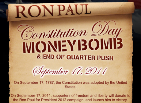 Constitution Day Money Bomb