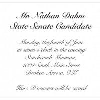 Dahm for State Senate Social at the Stinchcomb Mansion on June 4th