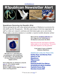 R3publican Newsletter Alert June for OK-SAFE Moneybomb