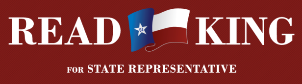 Read King for State Rep Texas Banner