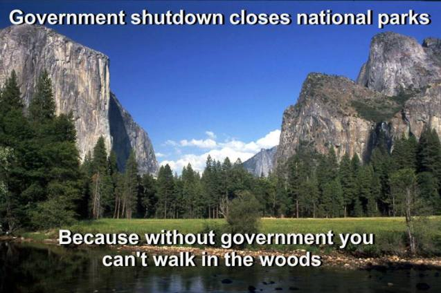 Government shutdown closes national parks