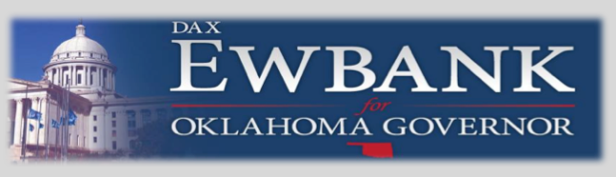 Dax Ewbank for Oklahoma Governor Banner