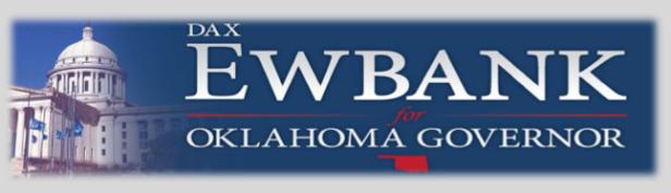 Dax Ewbank for Oklahoma Governor Banner
