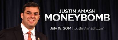 Justin Amash Money Bomb July 18 2014