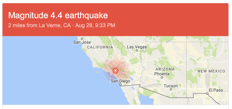 California Earthquake 4 4m In La Verne About 25 Miles From La